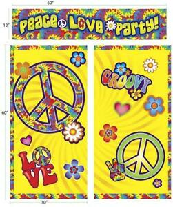 Hippie Decor 60 S Decades Retro Woodstock Theme Party Decoration