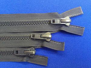 Zip ykk ouvertes tout plastique bleu marine non rouille 10 poids chunky solide heavy duty  </span>