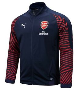 detailed look 592ad 29e62 Details about Puma Men Arsenal FC Stadium Training Jacket Navy Soccer  Jackets Jersey 75325205