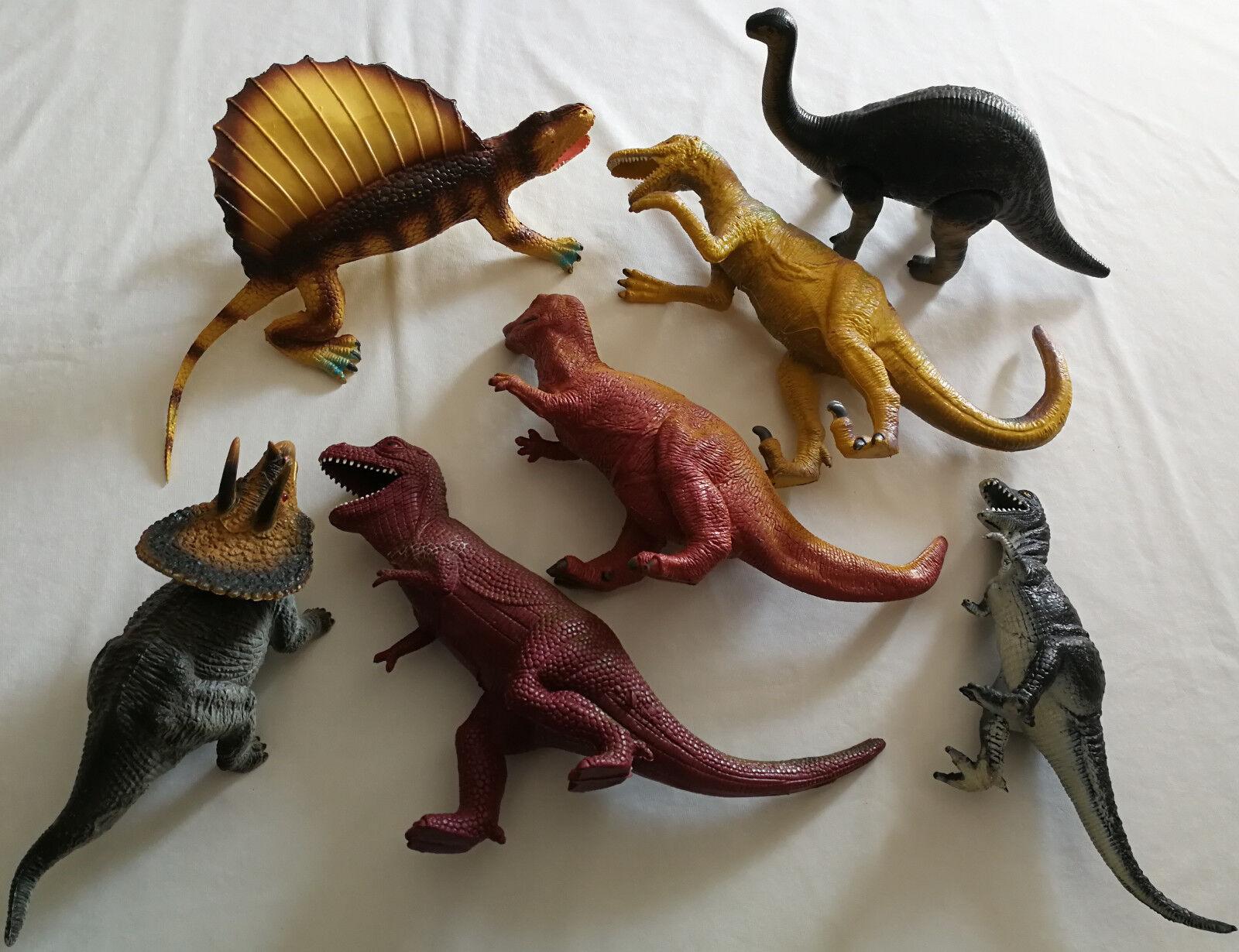 Dino (Dinosaurier) Figuren Triceratops 1991 T-Rex Edaphosaurus 1986 Velociraptor