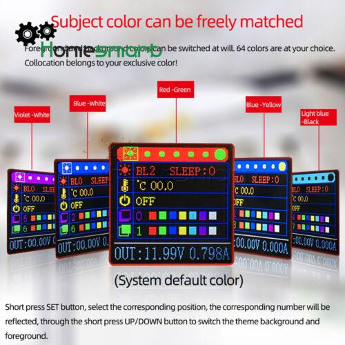 15W Digital USB Color DC-DC Converter Desktop Adjustable Power Supply ATF