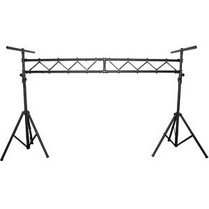 blastking aluminum mobile dj stage lighting truss stand system w 2 t bars bls01 ebay. Black Bedroom Furniture Sets. Home Design Ideas