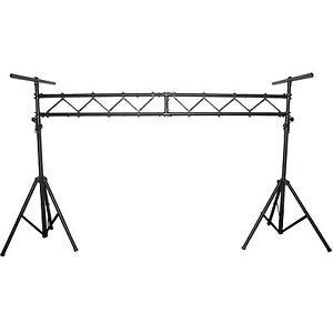aluminum mobile dj stage portable lighting truss stand system w 2 t bars bls01 686811770013 ebay. Black Bedroom Furniture Sets. Home Design Ideas