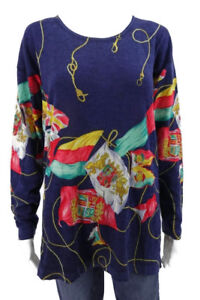 ROBERTO-CAVALLI-WOOL-CASHMERE-SILK-PULLOVER-SWEATER-SIZE-EUR-42-L-XL