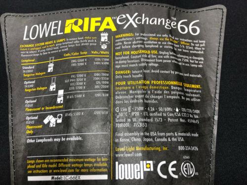 Lowel Rifá Lite EX66 reemplazo Capucha Nuevo
