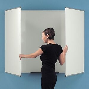 Magnetic-Surface-Folding-Space-Saving-Dry-Wipe-Whiteboard-Commercial-Grade