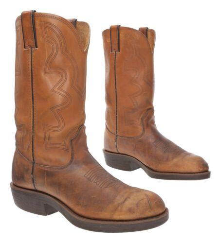 DURANGO Cowboy Boots 8.5 D Mens Brown Leather West