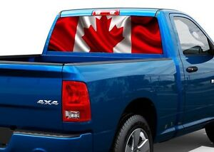 Canada Flag Patriotic Rear Window Graphic Decal Sticker Truck SUV - Rear window decals for trucks canada