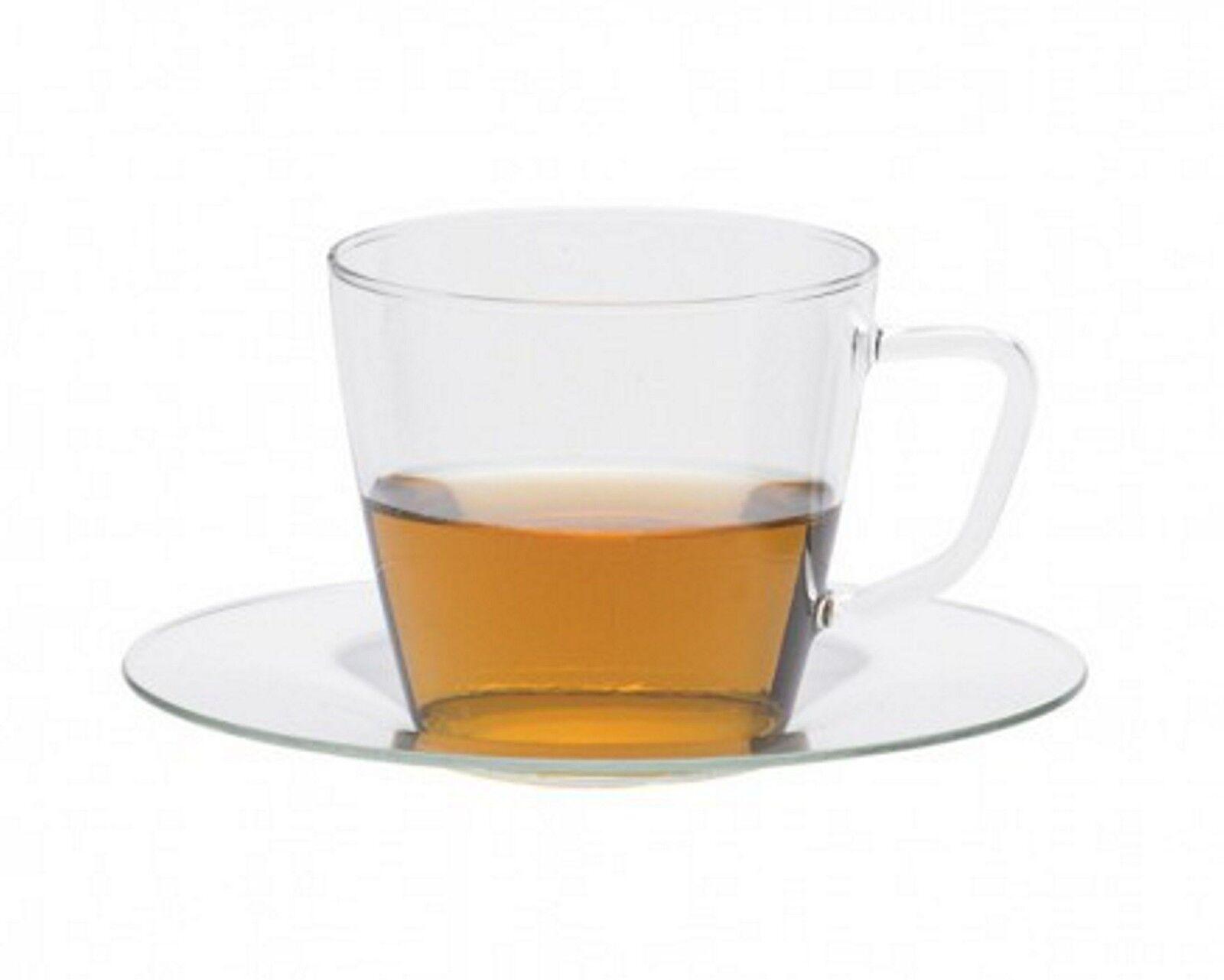 Tasse à thé 6 il set Nova avec glasuntertasse fa. trendglas Jena