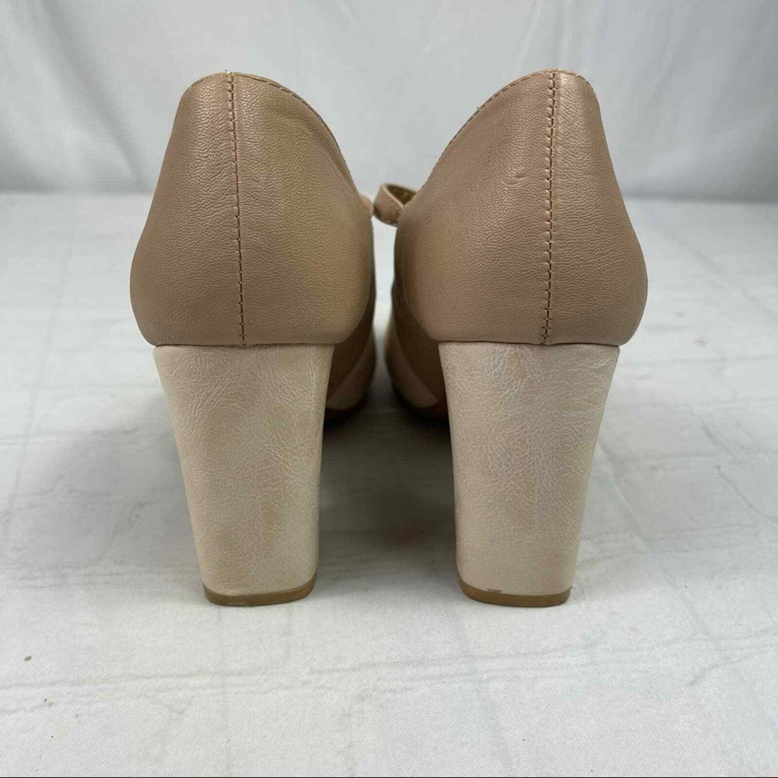 Jelly pop nude bow Mary Jane pumps - image 8