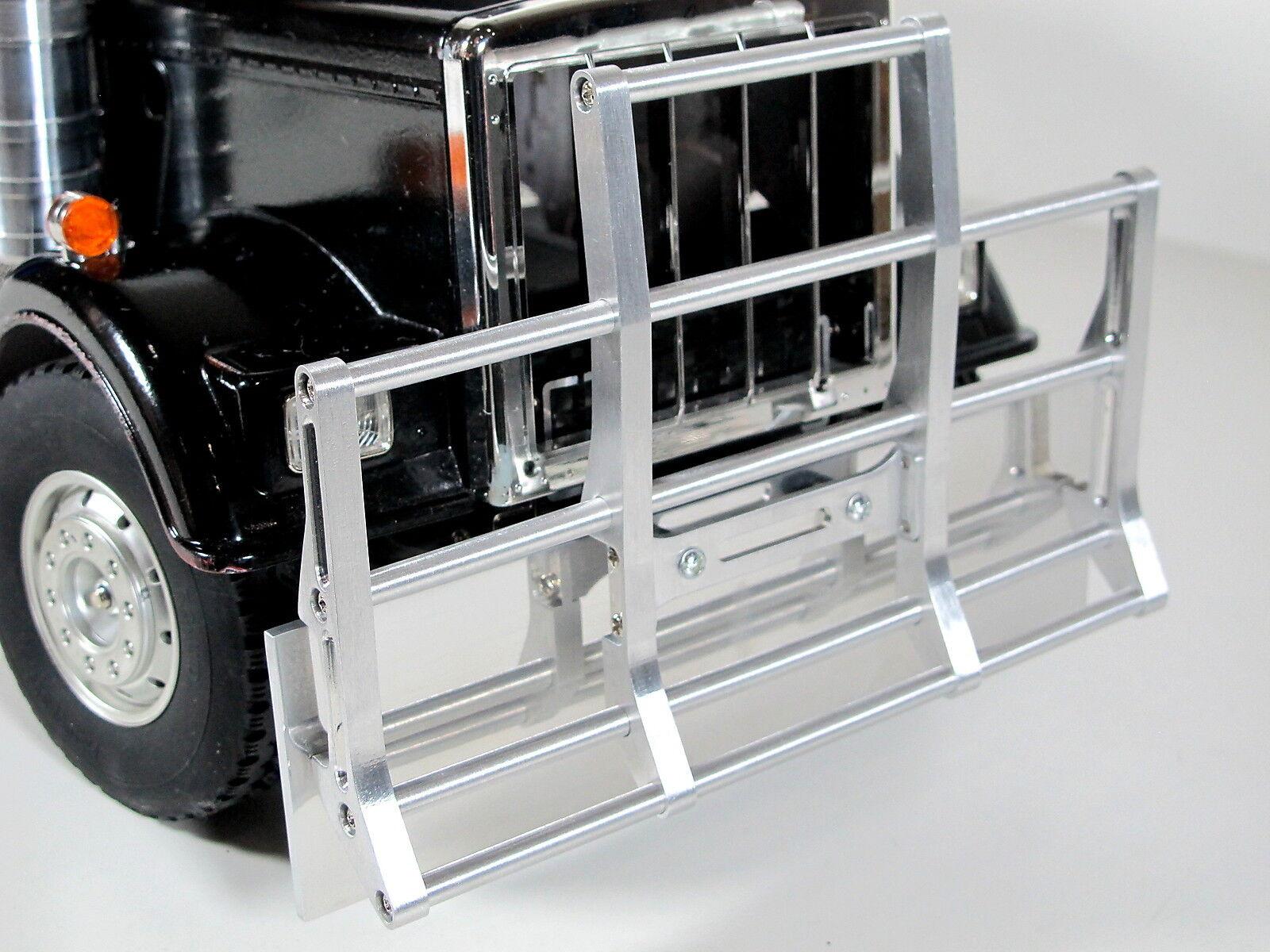 Aluminum davanti Bumper Plate Plate Plate + Prossoection Guard Tamiya R C 1 14 re Gre Hauler a4ec25