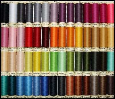 Hand Sewing NEON Gütermann Thread 100m Reel Sew-All 100/% Polyester Machine
