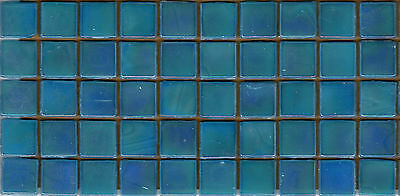 50pcs NP51 Turquoise Natura Pearl Glass Mosaic Tiles Iridescent 15x15x4mm