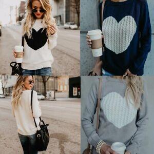 Womens-Long-Sleeve-Heart-Loose-Sweater-Coat-Knitted-Cardigan-Outwear-Knitwear