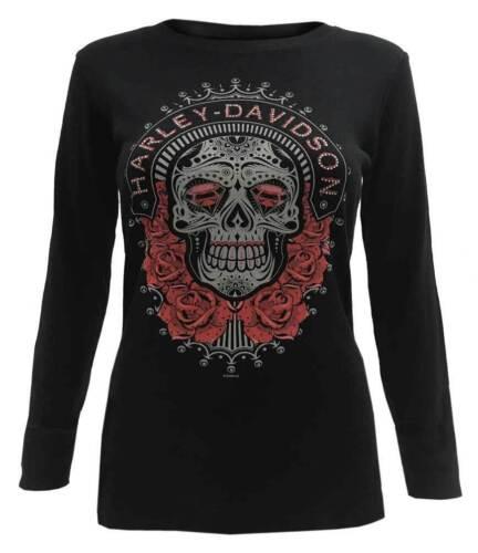 Harley-Davidson® Women/'s Sugar Skull Embellished Long Sleeve 302924420
