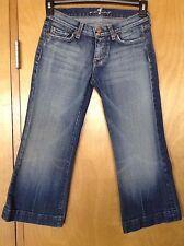 Women's Seven 7 For All Mankind Crop Capri Dojo Jeans Distressed Size 25