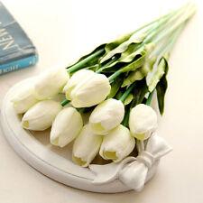10pcs White color Artificial Tulips Classic Flowers Bouquet For Wedding Party