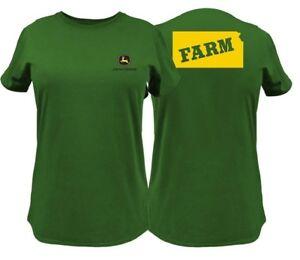 NEW John Deere Green State of Kansas Farm  T-Shirt Size M L