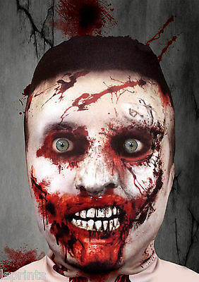 ZOMBIE V1 3D EFFECT FACE SKIN LYCRA FABRIC FACE MASK GRIM REAPER HALLOWEEN