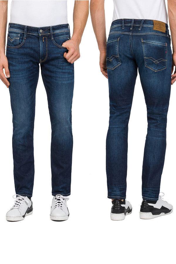 NEU  REPLAY Jeans ANBASS M914 Indigo Blau 101 330 Dunkelblau L30 L32 L34