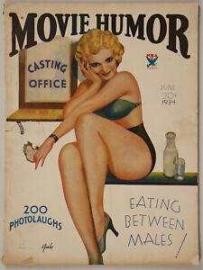 Vintage Rare June 1934 Vol. 1 #2 Movie Humor Magazine Casting Couch Flapper
