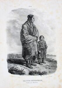Dakota-Indian-Natives-Santee-Sioux-Lakota-Karl-Bodmer-Minnesota-Indienne-USA