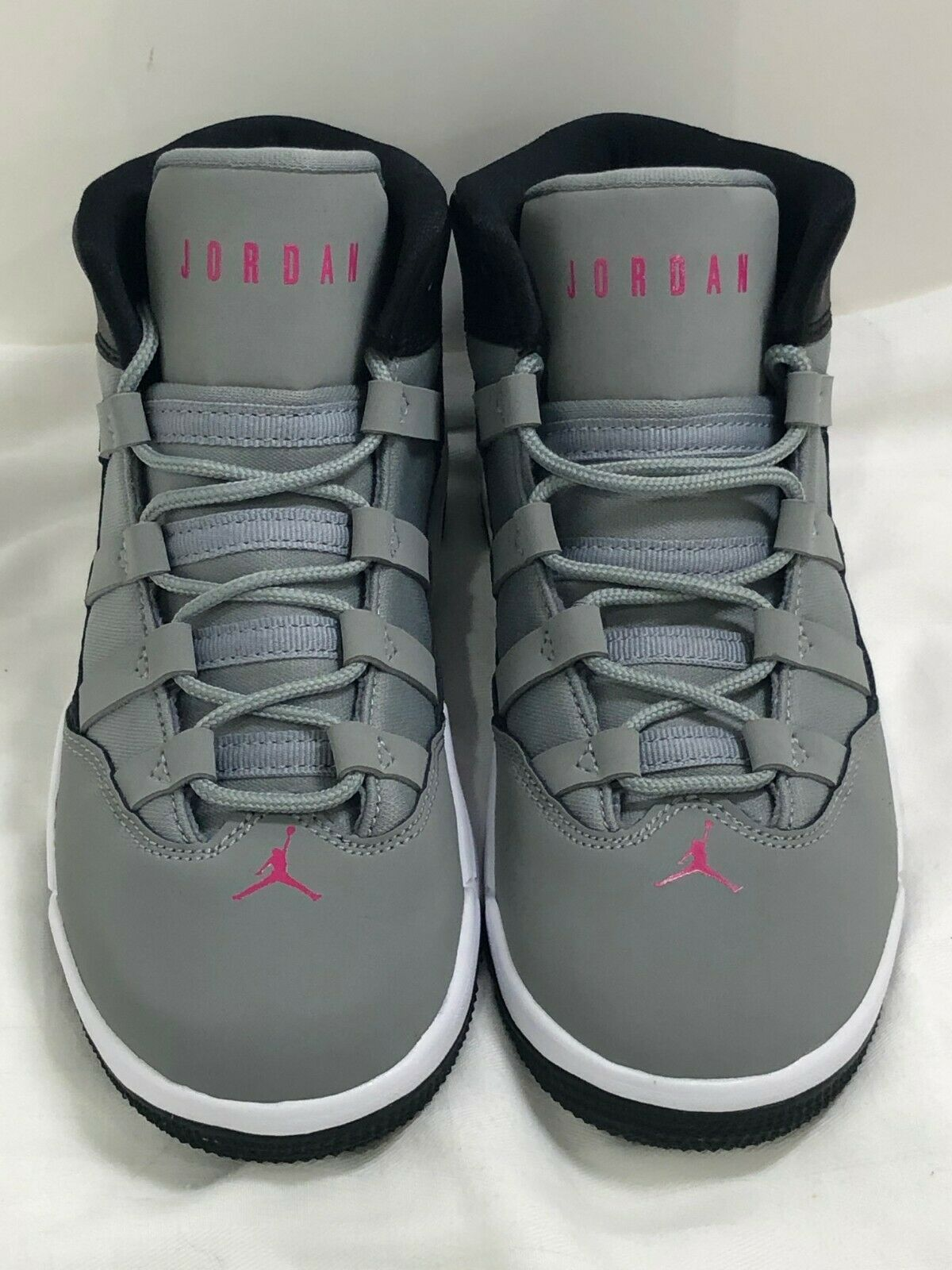 New Nike Air Jordan Max Aura (PS) Particle Grey Rush Pink Black AQ9250-001 Sz 1Y