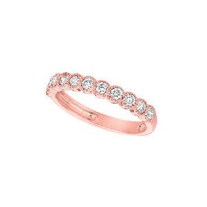 0.5 CT Diamond ring Set In 14K Rose Gold IDJR6883.05P