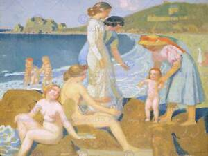 FEMALE-BATHERS-PERROS-GUIREC-MAURICE-DENIS-ART-PRINT-POSTER-PICTURE-HP317