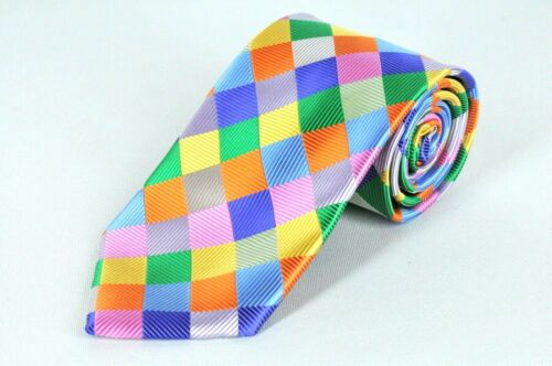 Lord R Colton Masterworks Tie Bright Color Prism Uprising Silk Necktie $195 New