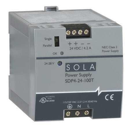 SOLA/HEVI-DUTY SDP4-24-100LT DC Power Supply,24-28VDC,3.8A,60Hz