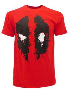T-Shirt-Deadpool-Original-Rouge-Tricot-Shirt-Marvel-Produit-Officiel