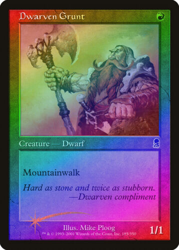Dwarven Grunt FOIL Odyssey NM-M Red Common MAGIC THE GATHERING MTG CARD ABUGames