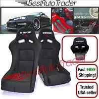 Pair Of Bride Vios 3 Low Max Racing Seats Black Cloth Black Frp Zeta Jdm Bucket