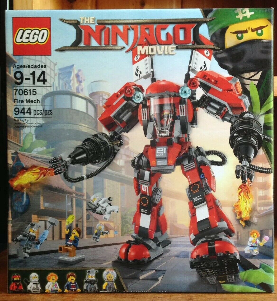 LEGO Ninjago Movie 70615 Fire Mech 944 Pieces New Sealed