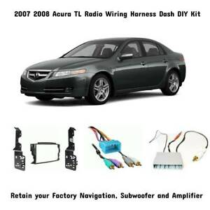 2007 08 Acura TL Aftermarket Radio Wiring DIY Dash Kit Sub ...