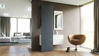 Modern Cabinet Hallway Coat Rack White With Grey High Gloss And Mirror Entryway