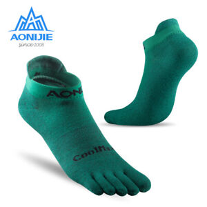 AONIJIE-Men-039-s-FIve-toe-Sports-Socks-Comfortable-Breathable-Low-Cut-Socks