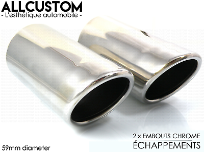 Chrome Exhaust Tips Muffler Tail Pipe For Mercedes C Class W204 07-11 C200 C180