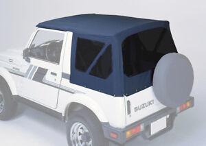 Verdeck-schwarz-Suzuki-Samurai-SJ-410-413-Softtop-mit-getoenten-Scheiben-NEU