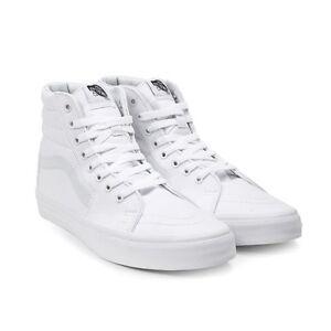 Vans SK8Hi True White Canvas triple white tutte bianche tela Sk8 hi