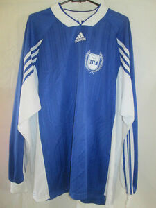 German-Lower-League-Club-Match-Worn-Football-Shirt-no-8-long-sleeves-9426