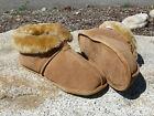 Men's Australian Sheepskin Slippers - Soft Leather Sole Size 8 9 10 11 12 13 14