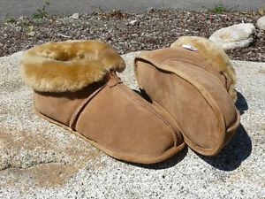 c3b564da364 Details about Men's Australian Sheepskin Slippers - Soft Leather Sole Size  8 9 10 11 12 13 14