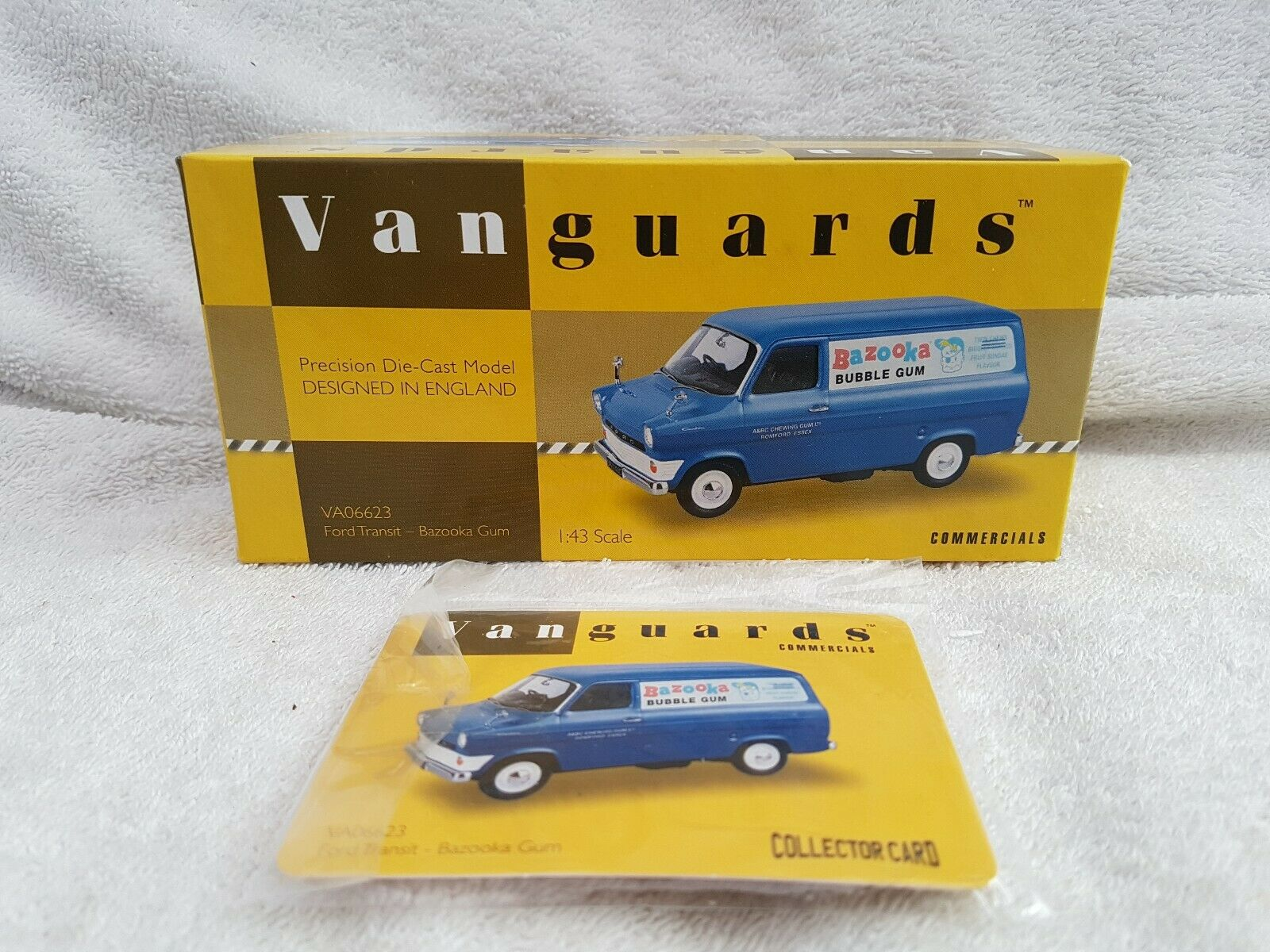 Vanguards 1 43 VA06623 Ford Transit Bazooka Gum Limited Ed Excellent Condition