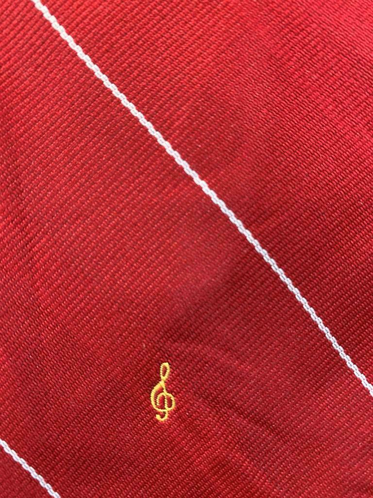 Musik Wertsachen Co Rot Weiß Streifen Polyester Krawatte MOC1420B #T04