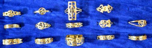 Nuevo 9ct oro anillo de Charles Rennie Mackintosh
