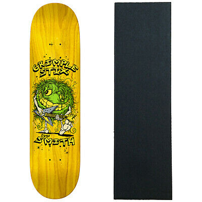 """Anti Hero Skateboard Deck Smith Grimple Stix Family Band Assorted 8.5/"""" with Grip"""