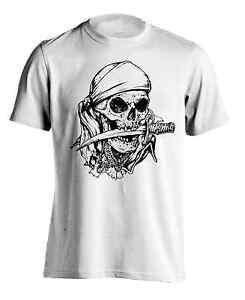 New Men s Skull Bandana Graphic Tee Athletic USA Summer Sports ... 397b35be778