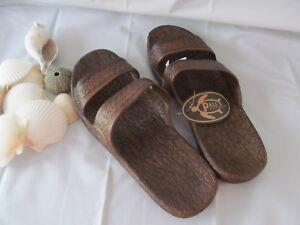 Pali-Hawaii-Jesus-Sandals-DARK-BROWN-Womens-Size-FREE-SHIPPING